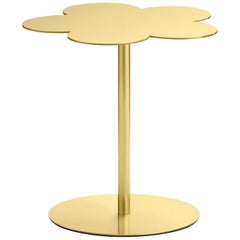 Ghidini 1961 Flowers Small Side Coffee Table in Satin Brass Finish