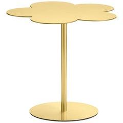 Ghidini 1961 Flowers Medium Side Coffee Table in Satin Brass Finish
