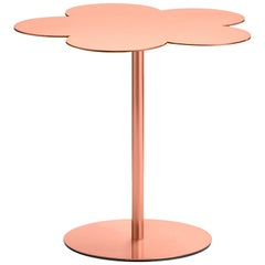 Ghidini 1961 Flowers Medium Side Coffee Table in Rose Gold Finish