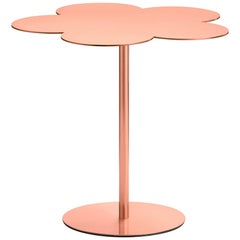 Ghidini 1961 Flowers Large Side Coffee Table in Rose Gold Finish