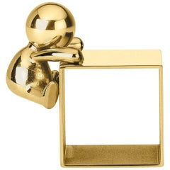 Ghidini 1961 Omini Napkin Holder 1 in Polished Brass