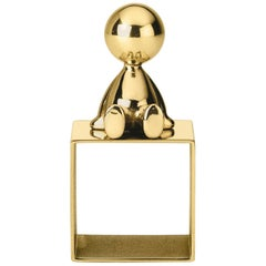 Ghidini 1961 Omini Napkin Holder 2 in Polished Brass