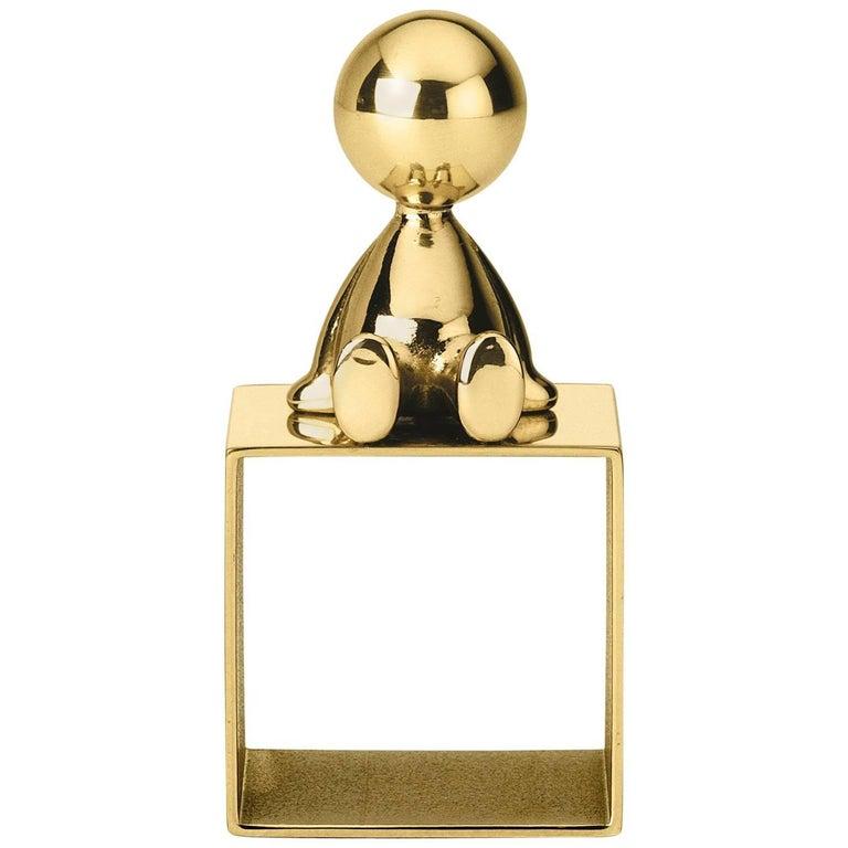 Ghidini 1961 Omini Napkin Holder 2 in Polished Brass