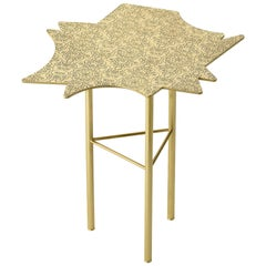Ghidini 1961 Ninfee Right Coffee Table in Satin Brass Finish