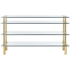 Ghidini 1961 Legs Console in Crystal and Polished Brass