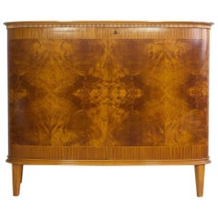 Mahogany Sideboard with Two Doors and Shelves by AB Seffle Mobelfabrik