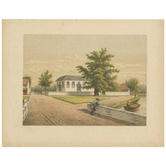 Antique Print of a Church in Batavia by M.T.H. Perelaer, 1888