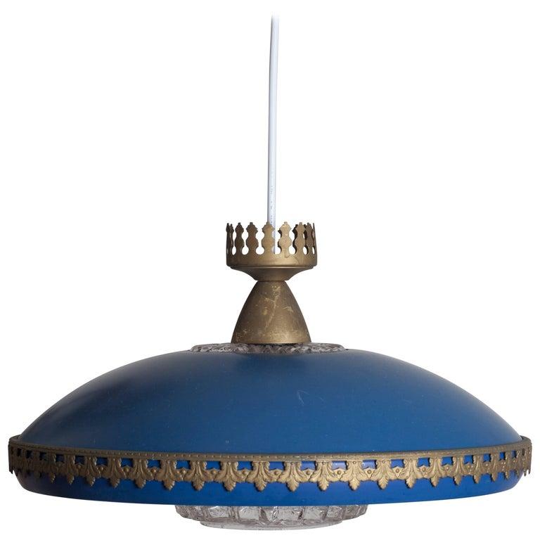 Scandinavian Lamp in Blue