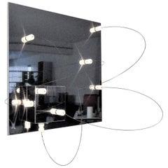 """A.R.D.I.T.I. 1972 Wall Lamp Steel Low Voltage """"BT1/S"""" Sormani Nucleo, Italy"""