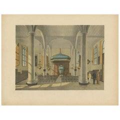 Antique Print of a Church Interior in Batavia by M.T.H. Perelaer, 1888