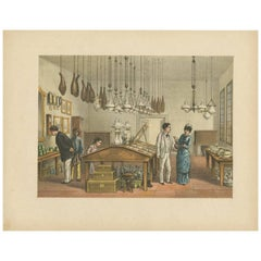 Antique Print of a Store in Batavia 'Indonesia' by M.T.H. Perelaer, 1888