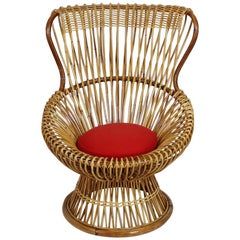 Vintage Italian Margherita Armchair by Franco Albini for Vittorio Bonacina