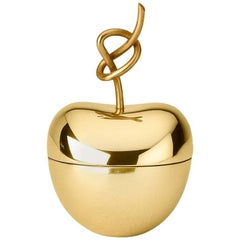 Ghidini 1961 Small Knotted Cherry Box in Polished Brass