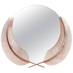 Ghidini 1961 Sunset Mirror Small in Rose Gold Finish