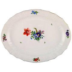 Royal Copenhagen Light Saxon Flower, Oval Serving Dish