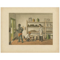 Antique Print of a Kitchen Storage in Batavia by M.T.H. Perelaer, 1888
