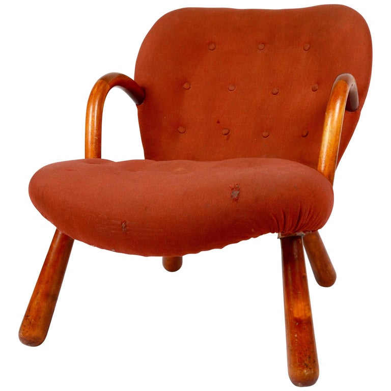 "Philip Arctander, ""Clam"" Chair, Denmark, 1940s"