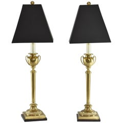 Pair of Frederick Cooper Brass Urn Form Table Lamps