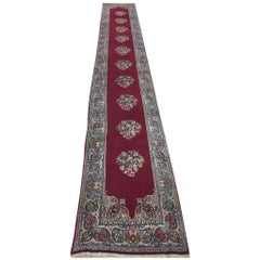 Kirman Long Runner, Beautiful Colors, 1950s