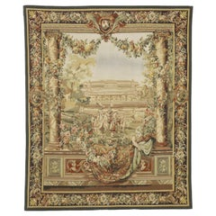 Gobelins Inspired Chateau Neuf Saint-Germain Tapestry with Louis XIV Style