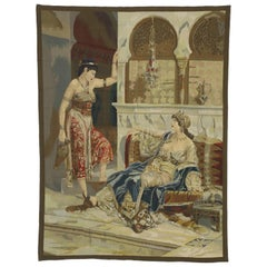 Imperial Harem Odalisque Tapestry with Ottoman Empire Style, Wall Hanging