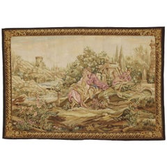 New Louis XV Style Tapestry Inspired by Noble Pastorale Series, Francois Boucher