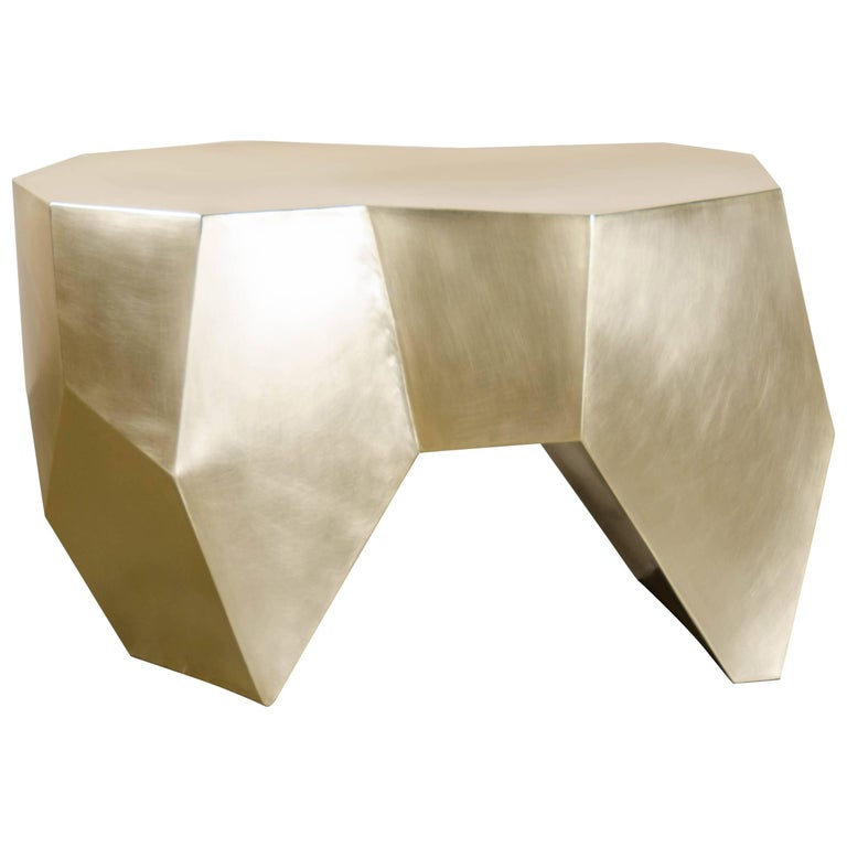 Molar Seat, Brass by Robert Kuo, Hand Repousse, Limited Edition, in Stock