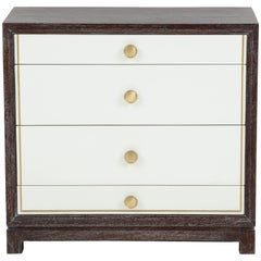 Tommi Parzinger Cerused Mahogany Chests