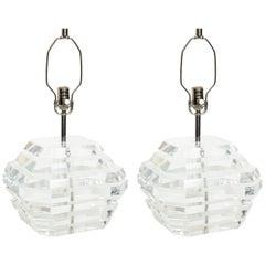 George Bullio Lucite Lamps