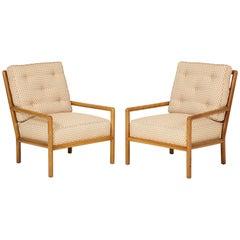 Pair of T.H. Robsjohn-Gibbings Lounge Chairs, circa 1950s