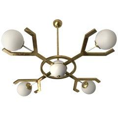 Contemporary Brass Chandelier Y