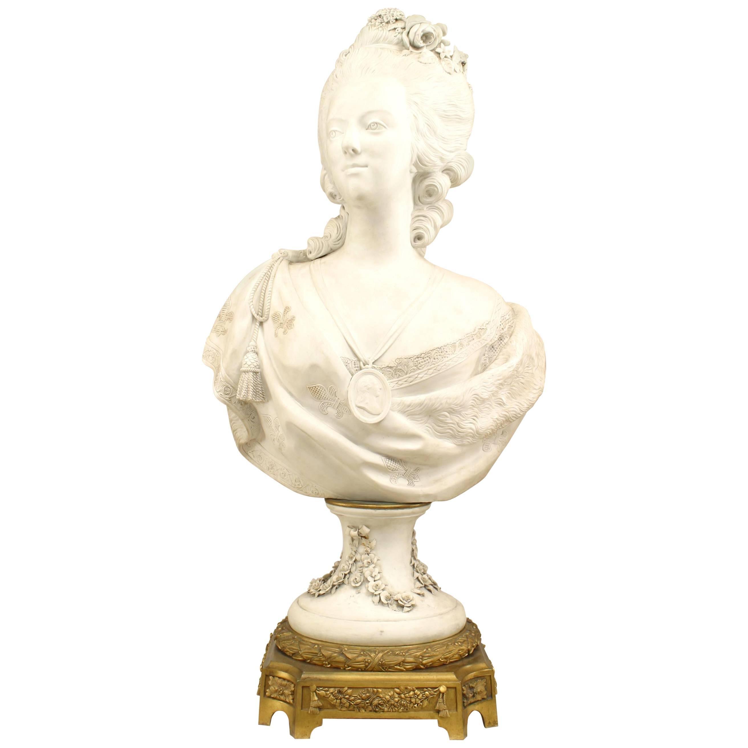 French Louis XVI Parium Marie Antoinette Bust