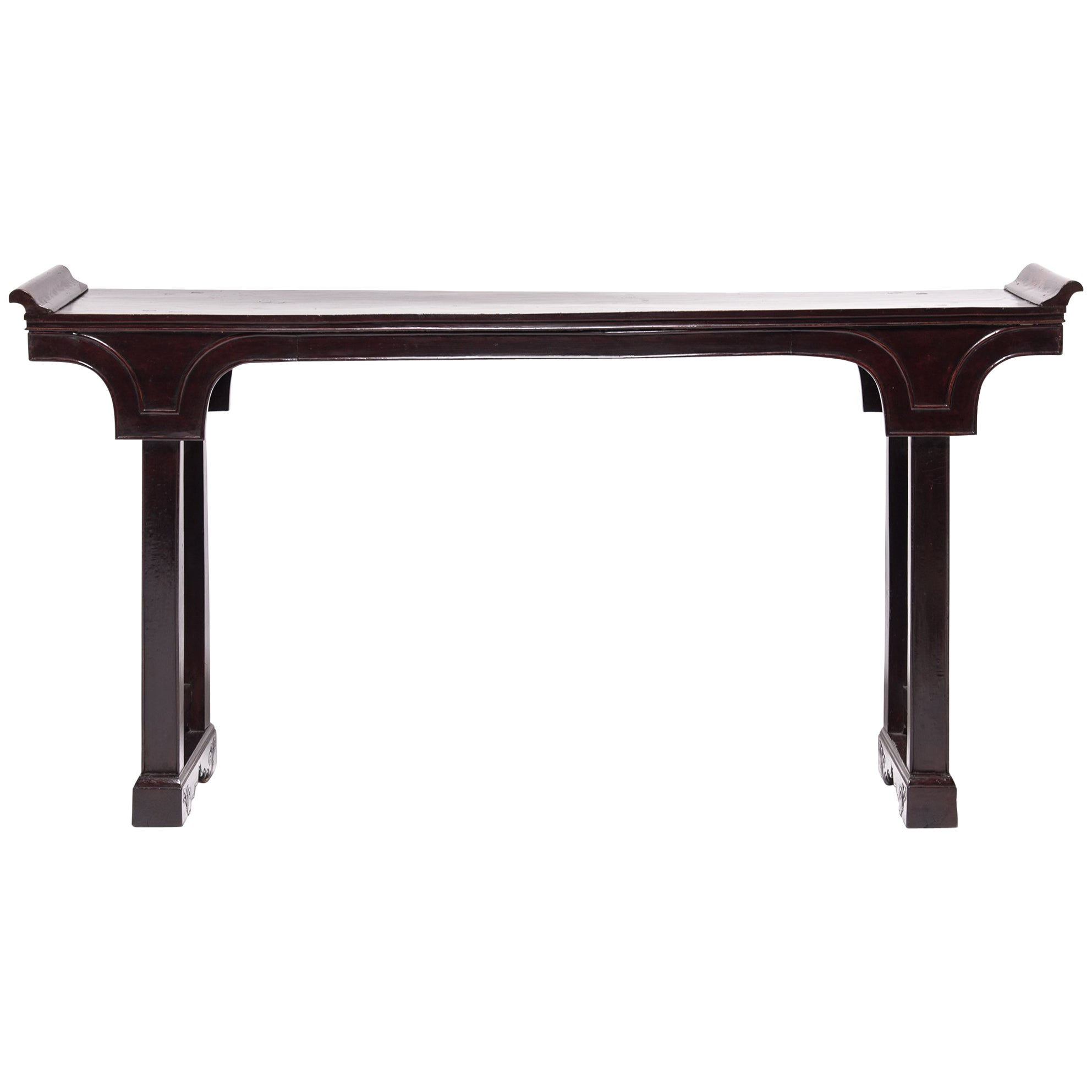 19th Century Chinese Flanked Altar Table