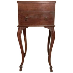 18th Century Louis XV Style Italian, Walnut Side Table with Drawings