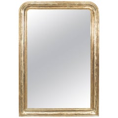 French Victorian Style (19th-20th Century) Silver Gilt Framed Mirror