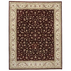 Vintage Persian Style Rug with Traditional Tabriz Design