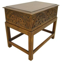 English Walnut Lift Top Bible Box on Stand by Minton-Spidell