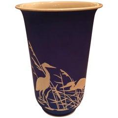 Mitte des Jahrhunderts Moderne Deutsche Rosenthal Porzellan Vase in Blau