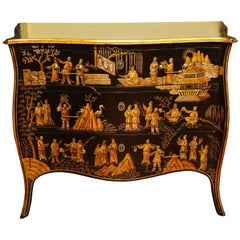 Chinoiserie Serpentine Chest of Drawers, Italian, circa 1950