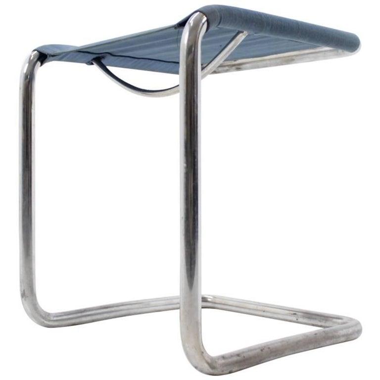 Rare Chrome Bauhaus Stool by H. Gottwald