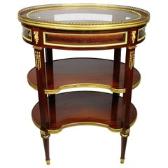 Louis XVI Style Belle Epoque Ormolu-Mounted Vitrine Table, Attributed to Linke