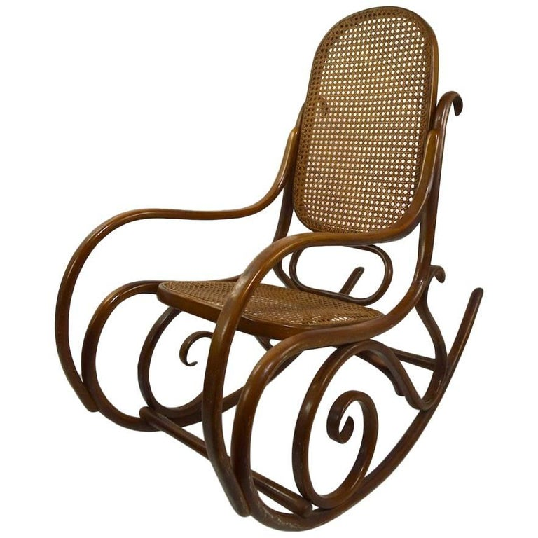 Bentwood Rocking Chair Attributed to Thonet