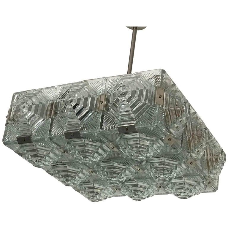 Chandelier Kamenicky Šenov Bohemian Glass
