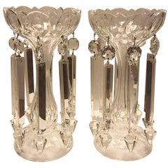 Pair of 19th Century Candleholder Lusters