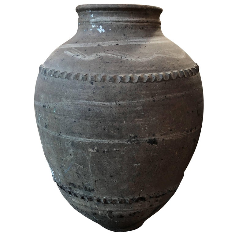 Large 18th Century Italian Terracotta Jar For Sale