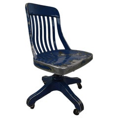 GoodForm Aluminium Swivel Desk Chair in Later Blue Paint Finish