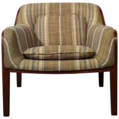 Restored Mid-Century Modern Bent Wood Lounge Chair, Bill Stephens for Knoll