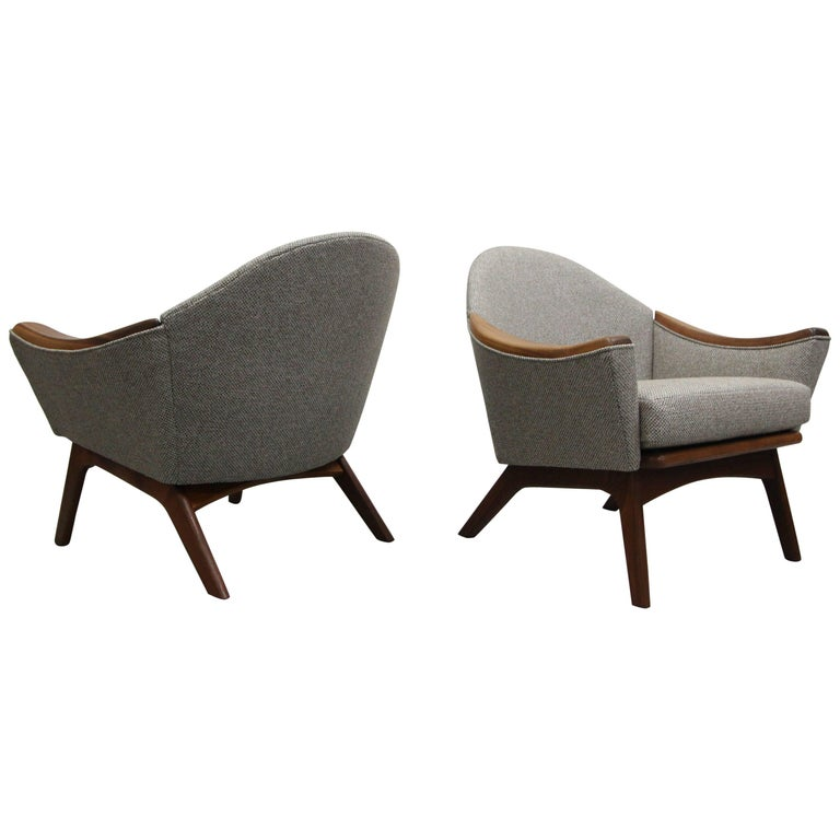 Pair of Midcentury Lounge Chairs by Adrian Pearsall for Craft Associates