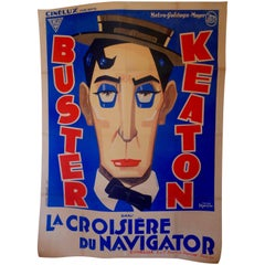 "French Film Poster ""La Croisière Du Navigator"" the Navigator, Buster Keaton"