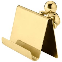 Ghidini 1961 Omini Cards Holder in Polished Brass